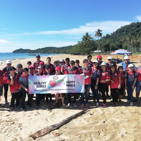 HSL cleans up beach in Telok Melano, Sematan