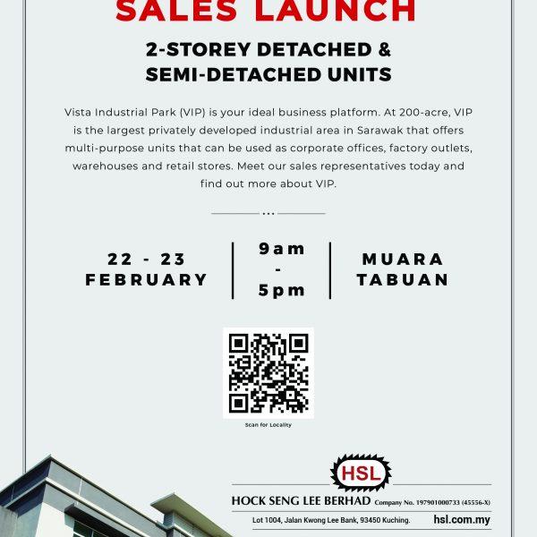 VIP Sales Launch 2-storey detached and semi detached units